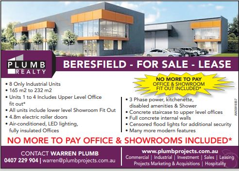 NO MORE TO PAY – Units include full turn key office/showroom fit out